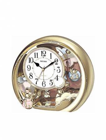 RHYTHM 4SE504-WR18 Επιτραπέζιο ρολόι με εκκρεμές και ξυπνητήρι. fa07ba99016
