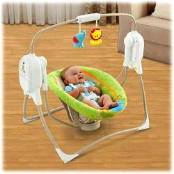FISHER PRICE RAINFOREST FRIENDS SPACESAVER CRADLE 'N SWING (BFH05)