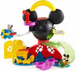 FISHER PRICE DISNEY MICKEY MOUSE CLUBHOUSE - FLY 'N SLIDE CLUBHOUSE (Y2311)