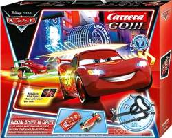CARRERA SLOT 1:43 GO!!! DISNEY PIXAR CARS - NEON SHIFT'N DRIFT (62332)