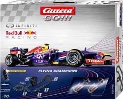 CARRERA SLOT 1:43 GO!!! 5.4m FLYING CHAMPIONS INFINITY RED BULL (62340)