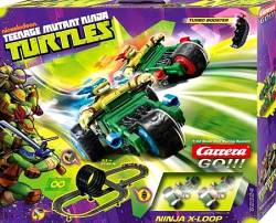 CARRERA SLOT 1:43 GO!!! TEENAGE MUTANT NINJA TURTLES - NINJA X-LOOP (62324)