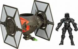 HASBRO HERO MASHERS STAR WARS THE FORCE AWAKENS - FIRST ORDER SPECIAL FORCES TIE FIGHTER &FIRST ORDER TIE FIGHTER PILOT (B3703)