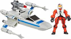 HASBRO HERO MASHERS STAR WARS THE FORCE AWAKENS - RESISTANCE X-WING &RESISTANCE PILOT (B3702)