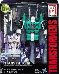 Hasbro Transformers Generations Titans Return Leader Class - Decepticon Revolver & Six Shot (C0286)